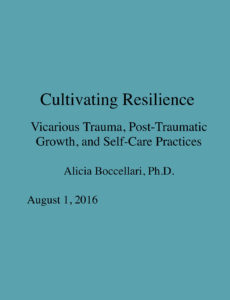Powerpoint: Cultivating Resilience – Vicarious Trauma, Post-Traumatic Growth, and Self-Care Practices